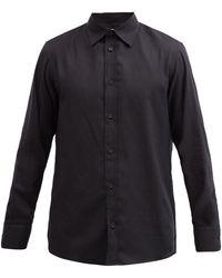 The Row ロビン コットンカシミアツイルシャツ - ブラック