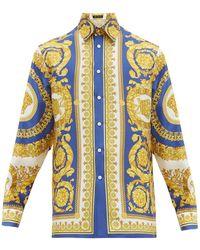 Versace Baroque Print Silk Shirt - Multicolor