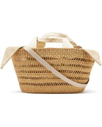 Muuñ George Woven-straw Basket Bag - Multicolour
