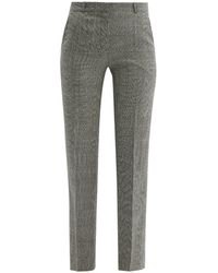 Pallas x Claire Thomson-Jonville Fulham Prince Of Wales Wool Pants - Gray