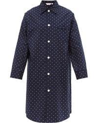 Derek Rose Chemise de pyjama en popeline de coton Nelson - Bleu