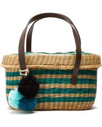 Serenella striped wicker basket bag Sophie Anderson kfKyCm