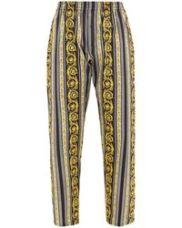 Versace Baroque-print Cotton Pyjama Trousers - Multicolour