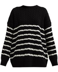 Loewe - Striped Wool Knit Sweater - Lyst