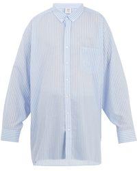 Vetements - Oversized Patch Pocket Striped Shirt - Lyst
