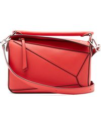 Loewe - Puzzle Small Grained Leather Cross Body Bag - Lyst