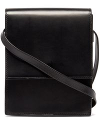 Lemaire Small Leather Cross-body Bag - Black