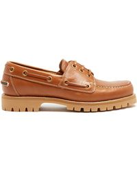 Gucci | Pacific Leather Deck Shoes | Lyst
