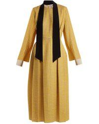 Fendi - Abito Pop High-neck Chevron Midi Dress - Lyst