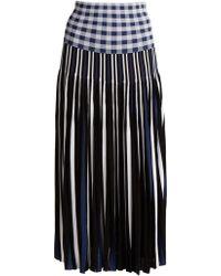 Sonia Rykiel | Pleated Knitted Gingham Skirt | Lyst