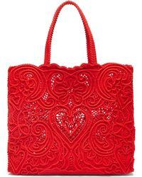 Dolce & Gabbana コルドネットレース トートバッグ - レッド