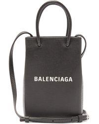 Balenciaga ショッピング レザー フォンフォルダーバッグ - マルチカラー