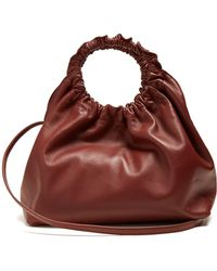 The Row - Double Circle Small Leather Bag - Lyst