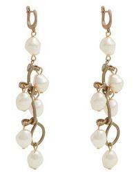 Marni - Pearl-embellished Drop Earrings - Lyst