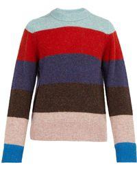 Acne Studios - Kai Striped Crew Neck Wool Sweater - Lyst