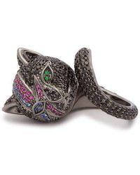 Lynn Ban - Bowie Cat Rhodium-plated Silver Ring - Lyst