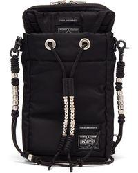 Toga X Porter Beaded Canvas Cross-body Bag - Black