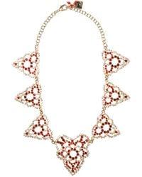 Rosantica Heart Crystal-embellished Necklace - Multicolour