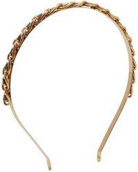 Rosantica By Michela Panero - Crystal Embellished Gold Tone Headband - Lyst