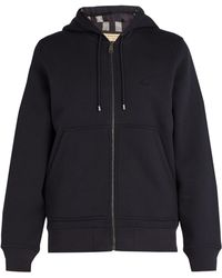 Burberry - House Check Lined Hooded Sweatshirt - Lyst