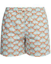Le Sirenuse - Lips Printed Swim Shorts - Lyst