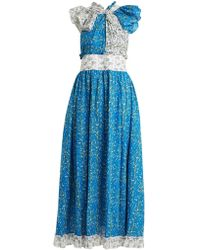 Gül Hürgel Knot Front Cotton Dress - Blue