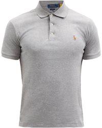 Polo Ralph Lauren スリムフィット コットンポロシャツ - グレー