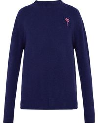 The Elder Statesman - Embroidered Palm Tree Logo Cashmere Jumper - Lyst