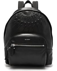 Neil Barrett - Lightning Bolt Embossed Leather Backpack - Lyst
