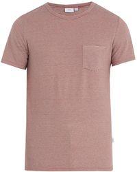 Onia - Chad Striped Linen-blend T-shirt - Lyst