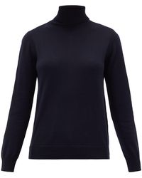 A.P.C. Sandra Roll-neck Wool Jumper - Blue