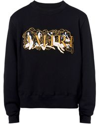 Amiri ロゴ コットンスウェットシャツ - ブラック