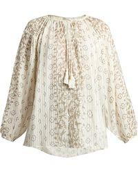 Mes Demoiselles - Jarod Geometric-print Cotton Shirt - Lyst