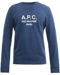 A.P.C. - ルーファス コットンスウェットシャツ - Lyst