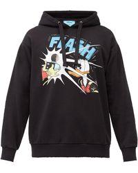 Gucci Disney X Donald Duck Hooded Sweatshirt - Black