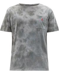 Gramicci One Point Tie-dye Cotton-jersey T-shirt - Gray