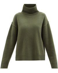 Allude ウールブレンド タートルネックセーター - グリーン