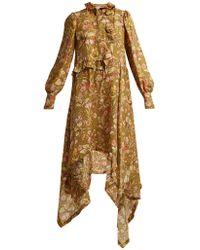 Preen By Thornton Bregazzi - Joan Garden Floral-print Silk Maxi Dress - Lyst