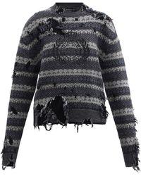 Balenciaga ダメージ フェアアイルセーター - マルチカラー