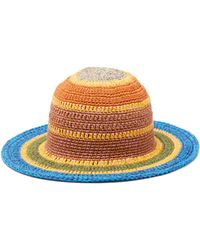 Etro - Striped Crocheted Cotton Blend Hat - Lyst 67f8e06b2488
