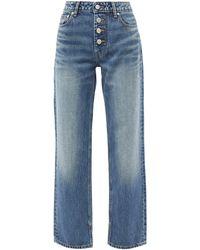 Ganni High-rise Straight-leg Jeans - Blue