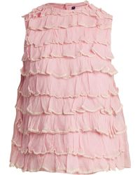 Jupe by Jackie - Bagana Tiered Ruffle Silk Organza Top - Lyst