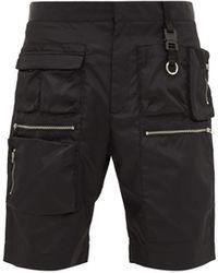1017 ALYX 9SM マルチポケット テクニカルツイル ショートパンツ - ブラック