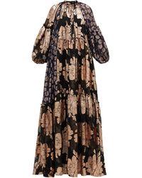 Biyan Robe en mousseline à fil coupé fleuri Geradielle - Multicolore