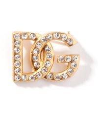 Dolce & Gabbana - Dgロゴ クリスタルブローチ - Lyst