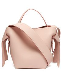 Acne Studios - - Musubi Small Leather Bucket Bag - Womens - Light Pink - Lyst