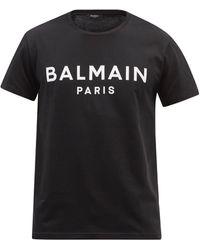 Balmain ロゴ コットンtシャツ - ブラック