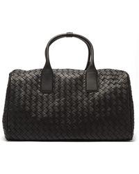 Bottega Veneta Woven Weekend Bag - Black