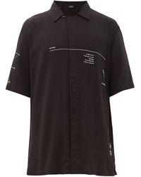 Marcelo Burlon オトロ ムンド キューバンカラーシャツ - ブラック