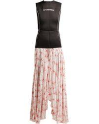 Marine Serre - Spin Flower-printed Skirt Wetsuit Dress - Lyst